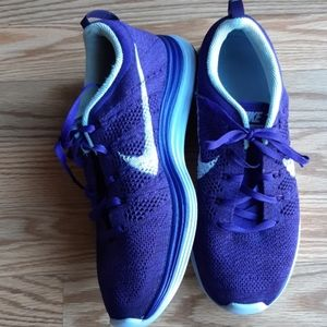 Nike Flyknit Lunar1 Lunarlon purple shoes 7.5 W